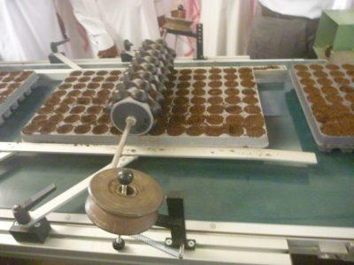 الشكل (8) الزراعة الآلية للبذور في المشاتل